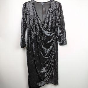 Torrid NWT Black Velvet Midi Length Dress size 3x